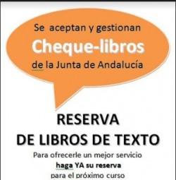 Cheque-libros en Librería Mari